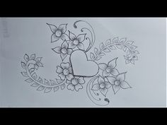 Khalil Art - YouTube Easy Flower Drawings, Pencil Drawings Of Flowers, Flower Drawing Tutorials, Pencil Shading, Flower Pattern Drawing, Flower Patterns, Flower Step By Step, Zentangle Patterns, Colored Pencils