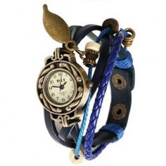 $5.27 IELY Quartz Watch with 12 Numbers Indicate Leather Watch Band for Women - Blue