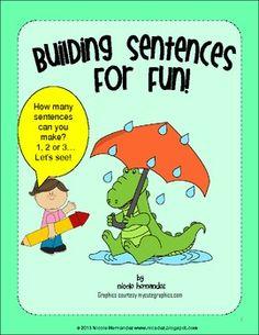 $ Building Sentences For Fun- How many Sentences Can You Mak