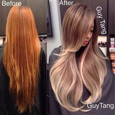 From brassy nasty to beautiful dimensional balayage ombre #makeover