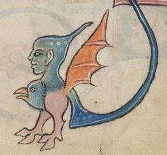 Detail from The Luttrell Psalter, British Library Add MS 42130 (medieval manuscript,1325-1340), f28r