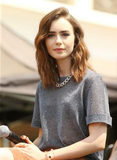 Lily Collins...perhaps this is the cut I will go for if I shall decide to chop off my hair. Hmmm