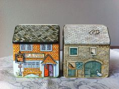 HunkyDory Cottage Miniature Tins Dana Kubick by VintageJourneys, $5.00