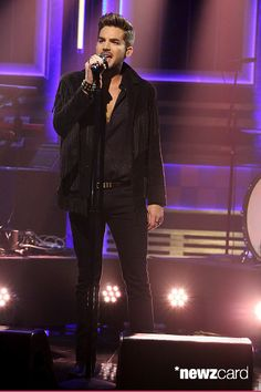 Adam Lambert performs on the Tonight Show with Jimmy Fallon 6-15-15 http://newzcard.com/celebrities/aCZlA/card/cmG5fD/musical-guest-adam-lambert-performs-on-june-15-2015-photo-by