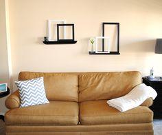 Simple decor: floating shelves & painted frames
