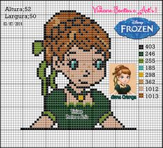 Princess Anna - Frozen pattern by Viviane Pontos e Art's