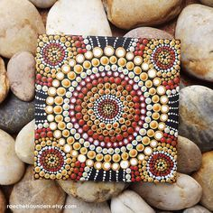 Aboriginal Dot Art Earth Painting Acrylic paint by RaechelSaunders