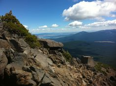 Hiking on Mt. McLaughlin in southern Oregon.