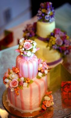 Mini tiered cakes by Sylvia Weinstock...almost too cute to eat!!