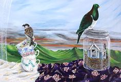 Art by the sea, art gallery in Devonport, Auckland, New Zealand Nz Art, Surrealism Painting, Contemporary Artists, New Zealand, Art Gallery, Landscapes, Earth, Models, Paisajes