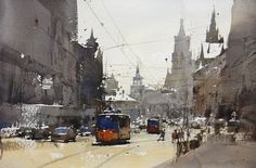 Chien Chung-Wei 簡忠威 is an award winning Taiwanese watercolour artist making his teaching debut in North America. Watercolor City, Watercolor Sketch, Watercolor Artists, Watercolor Landscape, Artist Painting, Watercolor Paintings, Watercolours, Urban Landscape, Landscape Art