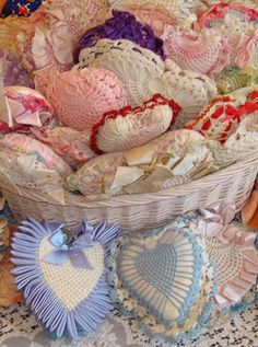 Vintage Heart Pincushion Collection