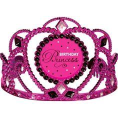 Black & Pink Birthday Princess Tiara - Party City