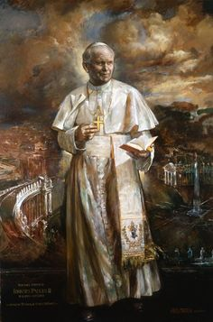 Blessed Pope John Paul II - wondrous official painting by the Vatican artist