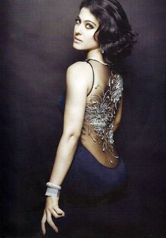 Kajol posing for Harper's Bazaar. #Bollywood #Fashion