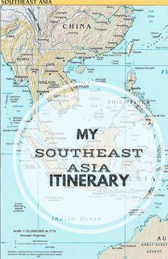 My Southeast Asia Itinerary! Where we're going and what we'll see for 19 days abroad!