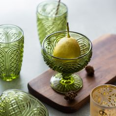 Vintage Green Embossing Glass - Pridecor