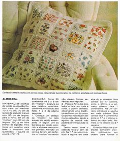 combining vintage fabric and crochet coverlet Crochet Fabric, Crochet Cushions, Crochet Quilt, Crochet Stitches, Knit Crochet, Crochet Patterns, Sewing Art, Easy Quilts, Machine Quilting