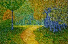 Camino del bosque. Óleo sobre lienzo. 2012. 100x65cm 320€