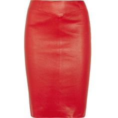 Joseph Stretch-leather pencil skirt (34,735 INR) ❤ liked on Polyvore featuring skirts, bottoms, red, юбки, saias, red skirt, knee length pencil skirt, stretch skirts, pencil skirt and stretch leather skirt