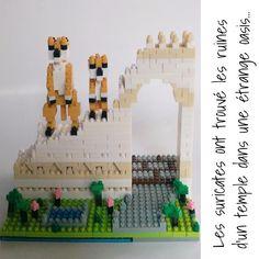 [nano-création 4] Les suricates ont trouvé les ruines d'un temple dans une étrange oasis... #nanoblock #mypushup https://www.mypushup.com