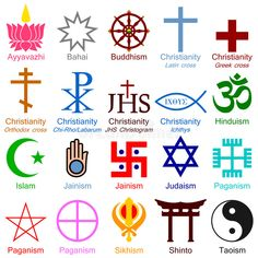 World Religion Colorful Icons Stock Vector - Illustration of cross, elements: 8155483 Religions Du Monde, World Religions, Magic Symbols, Ancient Symbols, Sirian Starseed, Ying Yang Symbol, Chi Rho, Adinkra Symbols, Galaxy Pictures