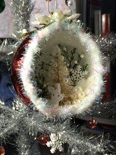 Christmas diorama ornament -