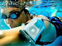 Aquapac Waterproof Cases - would be great for swimming or taking underwater pictures...I don't know if I would trust it to protect my precious iPhone though! Keep Your iPad dry at the Pool - try a suction-mount, waterproof Splashtablet iPad Case.  Free Shipping! Under $40. On Amazon. Great Reviews
