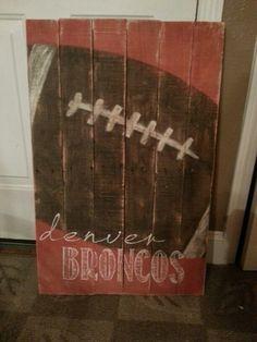 Vintage looking Football sign