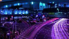 City Lights~ Thank you for 💜 Saints Row, Overwatch, Gogo Tomago, New Retro Wave, Neon Purple, Purple City, Purple Rain, Ex Machina, Neon Glow