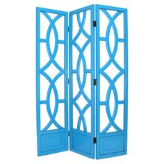 Found it at Wayfair - Charleston 3 Panel Room Divider in Distressed Teal