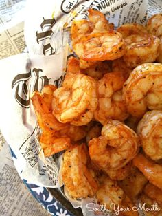 Super easy recipe with just a few ingredients that cooks up quick in the oven. Perfect for entertaining! Super easy recipe with just a few ingredients that cooks up quick in the oven. Perfect for entertaining! Best Shrimp Recipes, Fish Recipes, Seafood Recipes, Appetizer Recipes, Great Recipes, Cooking Recipes, Favorite Recipes, Healthy Recipes, Delicious Appetizers