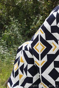 Nightingale Quilts: NEW FREE PATTERN: Bravo Indigo Quilt