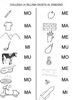 Scheda Completa Le Parole Ma Me Mi Mo Mu Cl Prima Schede