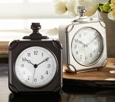 Square Pocket Watch Clock | Pottery Barn