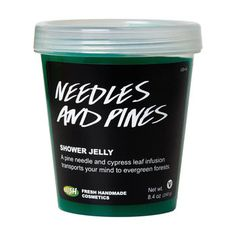 Needles and Pines Shower Jelly: An infusion of pine needles and cypress leaf combines with pine nut oil to create the scents of verdant Finnish woodlands while transporting your mind to a peaceful place.