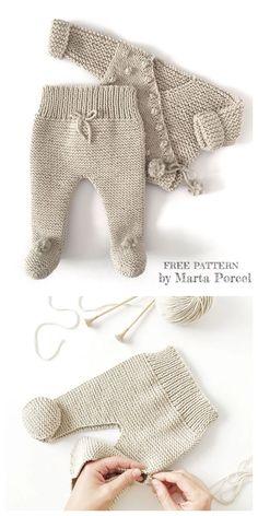 Knit Baby Kimono Jacket Legging Set Free Knitting Patterns