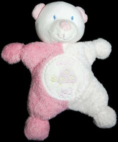 "Kids Preferred Asthma Allergy Friendly Pink Bear Plush Rattle Cuddle Bug 7.5"" #KidsPreferred"