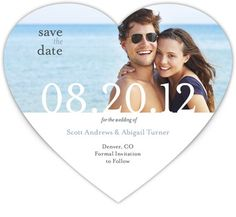 Heart-shaped Save the Date Magnets - Devoted