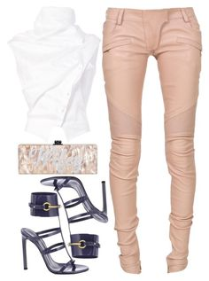 """""""Werk"""" by kimeechanga ❤ liked on Polyvore featuring Aganovich, Balmain and Gucci"""