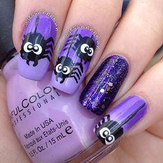 Nails halloween gel purple 53 new ideas Get Nails, Love Nails, Pretty Nails, Hair And Nails, Animal Nail Designs, Cute Nail Designs, Halloween Nail Designs, Halloween Nail Art, Cotton Candy Nails