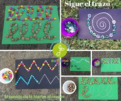 Autismus Arbeitsmaterial: Montessori: Folge der Linie