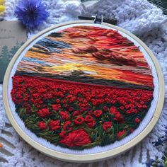 embroidery floss Embroidery Art Hoops Northwise on Etsy See our. Diy Embroidery Patterns, Flower Embroidery Designs, Creative Embroidery, Simple Embroidery, Hand Embroidery Stitches, Embroidery Hoop Art, Ribbon Embroidery, Indian Embroidery, Bordado Popular