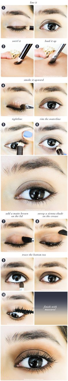 "Bronzed ""bedroom eyes"" from The Beauty Department [I love how soft and natural this look is.]"