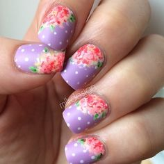 My #maniswap nails with @nailsbydaniellet 's design. Her's are so gorgeous  I like how mine came out even if they aren'...