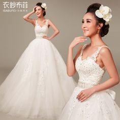 [Clothing yarn Buffay] Wan months. Lace waist strap palace Princess Bride Korean small tail wedding spot - Taobao