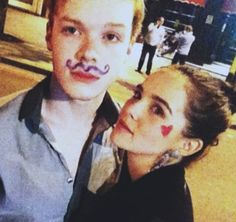 Cameron Monaghan and Zoey Deutch in London.