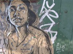 Brooklyn Museum: Elizabeth A. Sackler Center for Feminist Art: Feminist Art Base: swoon Feminist Art, Art Base, Street Art Graffiti, Street Artists, Banksy, Public Art, Urban Art, Art Forms, Female Art