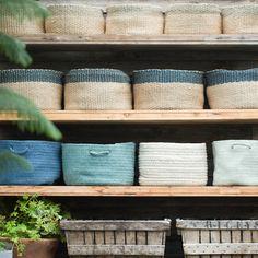 Braided Wool Basket