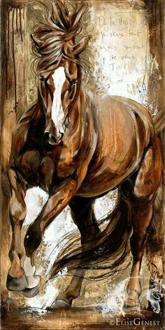 Elise Genest Arts and Horses - FRANCESCA - - Je veux tout! Elise Genest Arts and Chevaux I want everything! Elise Genest Arts and Horses Painted Horses, Arte Equina, Horse Artwork, Horse Drawings, Inspiration Art, Equine Art, Horse Pictures, Animal Paintings, Horse Paintings
